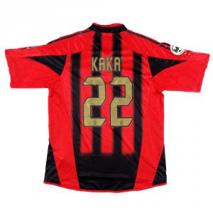 2004-05 Ac Milan Maglia #22 Kaka XL (Top) *Autografata