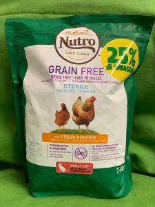 GRAIN FREE Gatto Adult Sterilizzato Pollo 1.4kg