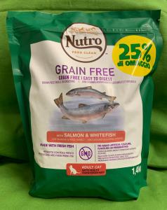 GRAIN FREE Gatto Adulto Salmone & Pesce bianco 1.4kg