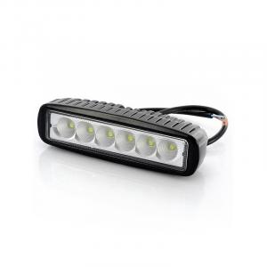Lampada da lavoro 6 led - 18 watt - 12/24V - 1350 lumen