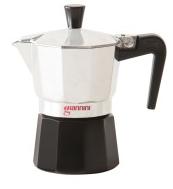GIANNINI CAFFETTIERA NINA IN ALLUMINIO DA 6 TAZZE SERBATOIO NERO NE6483