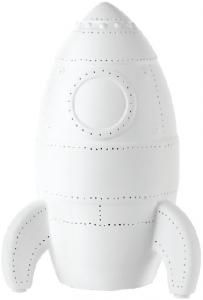 LAMPADA MISSILE IN PORCELLANA CON FILO ELETTRICO ALIMENTAZIONE 220V CM. 18X20X29 1XM27412