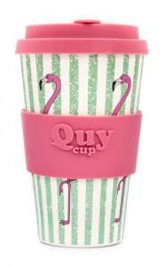 QUY cup MUG CON COPERCHIO FLAMINGO DIMENSIONI CM. 8,5 x 7 x 14 ALTEZZA BAMB40-053