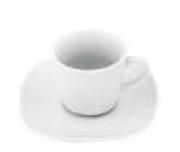 VILLA ALTACHIARA SERVIZIO CAFFE' QUADRATO BIANCO IN PORCELLANA SET 6 PEZZI 10260401