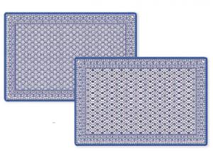 TOVAGLIETTA RETTANGOLARE CON STAMPA FRONTE-RETRO LINEA MONSOON BLUE CM. 45X30 R0320#MOBL