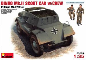 DINGO Mk.II SCOUT CAR w/CREW Pz.Kmpf. Mk.I 202(e)