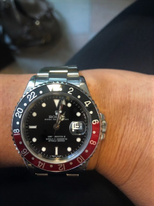 Rolex secondo polso Gmt Master 2 modello Rectangular