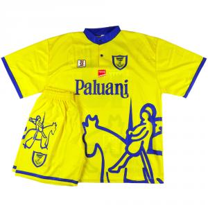 1997-98 Chievo Verona Kit maglia/pantaloncini #18 Cinetti XL *Nuova
