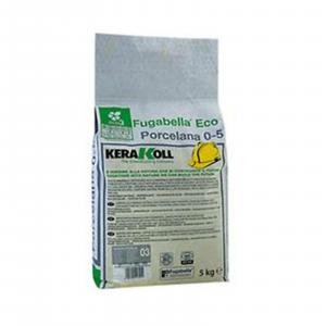 Kerakoll fugabella eco porcelana 0-5 fuga stucco per piastrelle colore cemento kg5