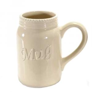 Tazza panna a forma di boccale in ceramica