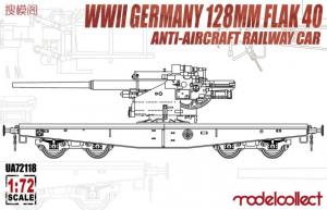 WWII Germany 128mm Flak 40 Anti-Aircraft Railway Car