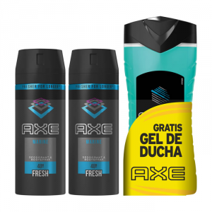 Axe Marine Deodorante Spray 2x150ml + Gel Doccia Ice Chill 250ml