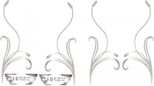 Adesivo interno finestrino con effige palude e logo HI-WAY
