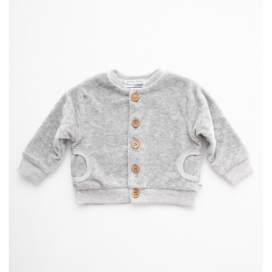 Cardigan Velluto neonato bambino 178 Bamboom Grey