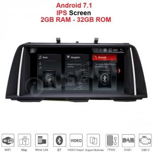 ANDROID GPS WI-FI Bluetooth MirrorLink 10.25 pollici navigatore compatibile con BMW Serie 5 F10/F11 2013, 2014, 2015, 2016 Sistema originale NBT