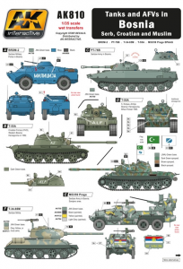 TANKS AND AFVS IN BOSNIA