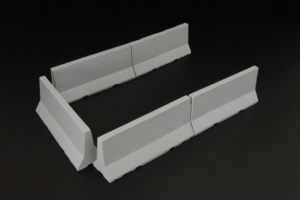 Modern concrete road barriers