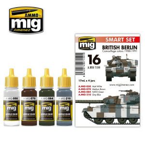 British Berlin Camouflage Colors 1988 Set