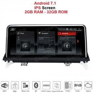 ANDROID GPS WI-FI Bluetooth MirrorLink 10.25 pollici navigatore compatibile con BMW X5 F15 2014-2017 Sistema originale NTB