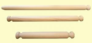 Mattarello in faggio con manico fisso cm. 40/60/80