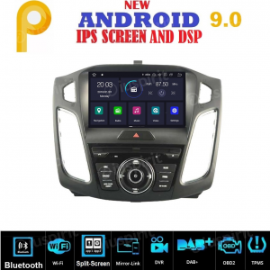 ANDROID 9.0 GPS DVD WI-FI Bluetooth MirrorLink autoradio navigatore compatibile con Ford Focus 2015 2016 2017