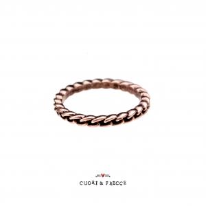 CUORI&FRECCE - ANELLO A CATENA ORO ROSA 9 KT