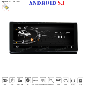 ANDROID 10.25 pollici navigatore per Audi A4 2017-2018 GPS WI-FI Bluetooth MirrorLink 2GB RAM 32GB ROM