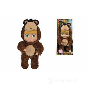 Masha 2 in 1 , bambola 25 cm indossa costume da orso in peluche Simba toys