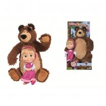 Set bambola Masha con orso, bambola cm 23, orso cm 43. Simba toys