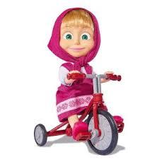 Masha con triciclo personaggio cm 12 Simba toys