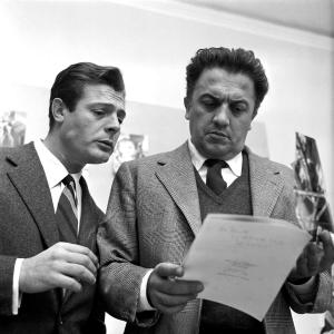 Marcello Mastroianni e Federico Fellini, 1958