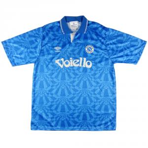 1991-93 NAPOLI MAGLIA HOME XL *Nuova