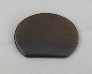 Finale Per Corrimano Sagoma Ovale Ottone brunito art. 91  mm 55 x 40 (Prezzo Per Pz. 2)