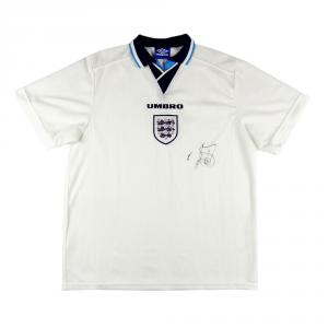 1995-97 Inghilterra Maglia Home XL *Autografata