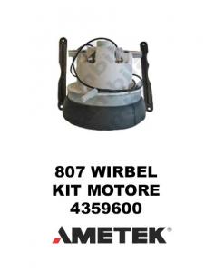 807 4359600 KIT MOTORE AMETEK di aspirazione per aspirapolvere per WIRBEL