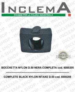 Bocchetta nylon ø 50 nylon completa cod. 6000205 for aspiraliquidi GHIBLI e WIRBEL
