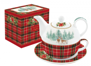 EASY LIFE TEA FOR ONE/EGOISTE IN PORCELLANA IN SCATOLA REGALO LINEA WINTER FOREST R0104#WIFO
