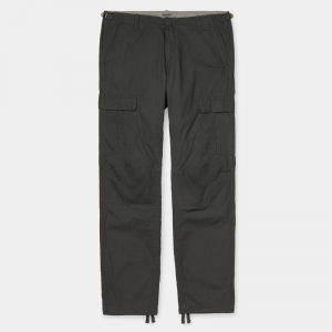 Pantaloni Carhartt Aviation (Black Smith Rinsed)