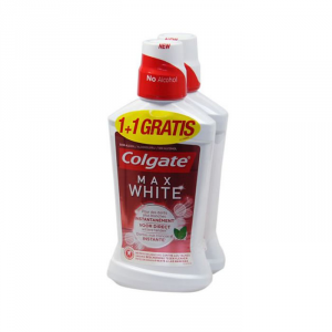 Colgate Max White Collutorio 2x500ml