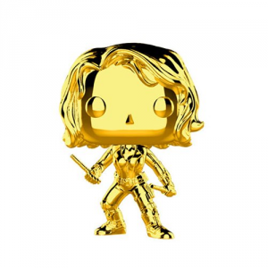 FUNKO POP! Marvel Studios: The First Ten Years Gold Chrome BLACK WIDOW