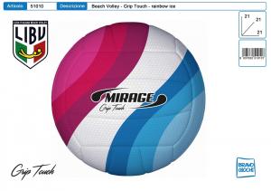PALLONE BEACH Volley MIRAGE LIBV ICE RAINBOW 51010 TOYS GARDEN