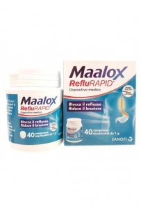 MAALOX REFLURAPID 40 COMPRESSE MASTICABILI 1 G BLOCCA IL REFLUSSO - RIDUCE IL BRUCIORE