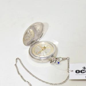 Orologio Da Taschino A Carica Manuale (cassa E Catena In Argento) Funzionante