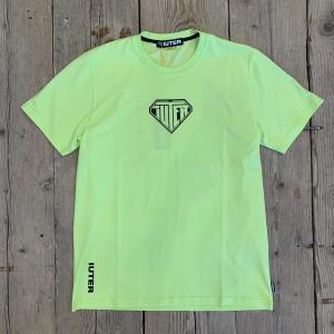 Maglia Iuter con Logo Davanti Gialla Lime