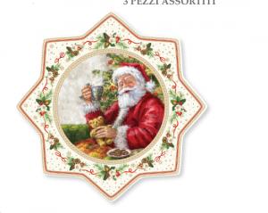 EASY LIFE PIATTO TORTA IN PORCELLANA DIAMETRO CM. 32 LINEA CHRISTMAS TIME 2070 CHTR