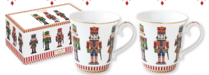EASY LIFE SET 2 MUG IN PORCELLANA IN SCATOLA REGALO LINEA NUTCRACKER 1102 NUTC