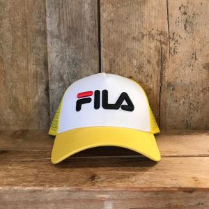 Cappellino Fila Trucker Cap Snap Back Giallo e Bianco