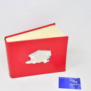Porta Foto Rossa Per Laurea Con Logo Argento