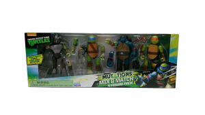 Turtles 4 personaggi mutanti Mix & Match
