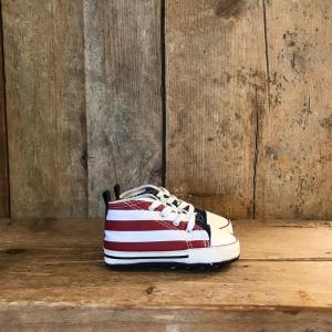 Scarpa Converse da Neonato con Bandiera Americana Stelle e Strisce